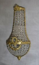 Wandlampe Wandleuchter  Wandleuchte Glas Messing Shabby Glamour Gold Antik Stil