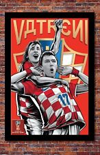 2018 World Cup Soccer Russia | TEAM CROATIA Poster | 13 x 19 Inches