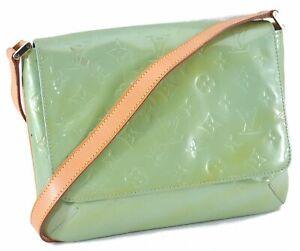 Louis Vuitton Monogram Vernis Thompson Street Shoulder Bag M91009 Green C1159
