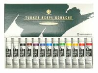 NEW Turner ACRYL GOUACHE School Set 12 Colors 13 Tubes (11ml Tube) F/S