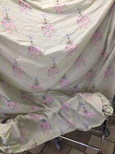 Rachel Ashwell Queen Duvet Shabby Chic Green Pink Bouquet