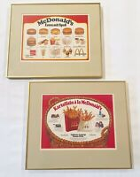 Vintage GERMANY MCDONALD'S advertising Menu Promotional frame art burger rare ad