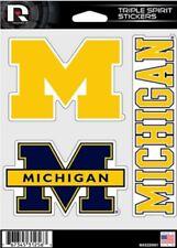 Michigan Wolverines 3 Die Cut Decals Auto Tumbler Laptop Triple Spirit