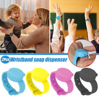 2x Portable Silicone Soap Bracelet Wristband Hand Dispenser Band Squeeze Bottle