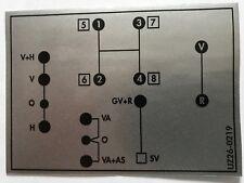 Unimog Schaltschema Aufkleber 421 Kleines Getriebe