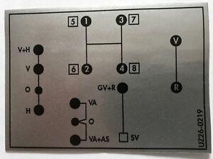 Unimog Schaltschema Aufkleber 421 Kleines Getriebe 117