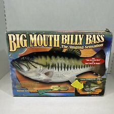 Vtg Big Mouth Billy Bass Singing Fish 1999 Gemmy Box & Adapter for Repair