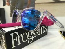 Occhiali da sole da uomo con lenti in blu con montatura in chiaro/Trasparente Oakley