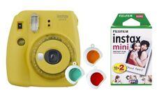 Fuji INSTAX MINI 9 Clear Yellow Giallo incl. Instax Film 20 registrazioni! immagine immediatamente