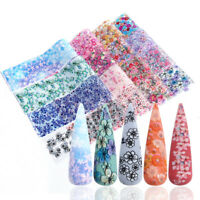 Flower DIY Slider   Water transfer Decals Nail stickers Nail Foils Holographic