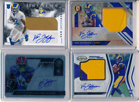 VAN JEFFERSON 9pc - 3 Jersey Patch, 2x RC AUTOs & 4 RC Patch AUTOs #d - Rams RC