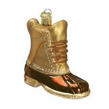 Field Boot Ornament Old World Christmas New Blown Glass Glitter Accents