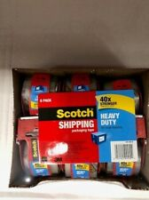 Scotch Heavy Duty Shipping Packing Clear Tape Rolls 6 CT w/ Dispenser 40X