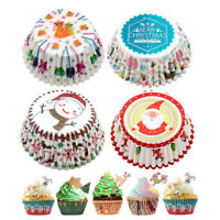 100Pcs Mini Cake Cupcake Liner Case Christmas Party Baking Paper Muffin Cup Acc