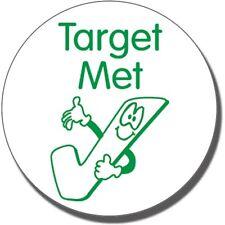 ST66 Target Met Tick Pre-inked School Marking Stamper Primary Teaching Services