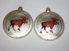 Christmas ornaments Moose Vintage Leslie Beck White Dear