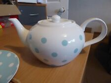 BNWT  Cath Kidston  blue and white spotty teapot