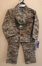 NWT Childs US Marine Uniform Costume Size 4 3 pieces Military Halloween Camo