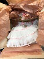 Madame Alexander Melanie Doll Vintage #2220 White Victorian Dress Pink Trim