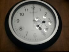 La Crosse Technology 10 In. H Round Atomic Analog Wall Clock In Black One Button