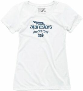 Alpinestars Winged Team Womens Short Sleeve T-Shirt White