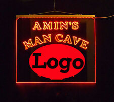 Personalized Man Cave Bar Custom LED Sign,  sports, Logo Multicolor Changing
