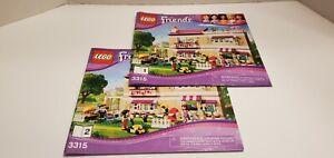 Lego Friends 3315 Instruction Book Manual 1 & 2 - No Legos