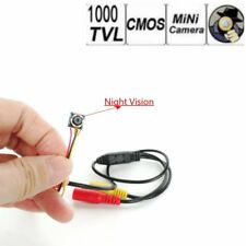 Tiny camera  HD 1000TVL cctv wired IR night vision lens security video spy cam