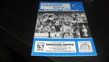Cardiff City v Hereford United 19th November 1988 FA Cup