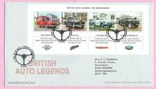 Royal Mail 2013 FDC - BRITISH AUTO LEGENDS M/sheet - Shs ALWALTON, Peterborough