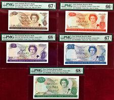 New Zealand 1989 MATCHING 1st Prefix LOW 000099 $1 to 20 GEM UNC PMG 66 - 68 EPQ