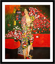 The Dancer by Gustav Klimt 75cm x 62.5cm Framed Black