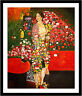 The Dancer by Gustav Klimt 75cm x 62.5cm Framed Black