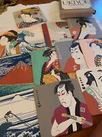 UKIYOE COASTERS FINE ART JAPANESE PRINTED IN JAPAN SET OF 12