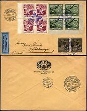 139/Zeppelin Liechtenstein 1932 Schweizfahrt Brief 112 Eckrand-Block/4 Si 167