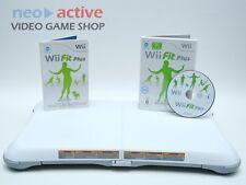 Wii FIT PLUS + BALANCE BOARD | Original Nintendo Wii Spiel | Wii U Weiß #A