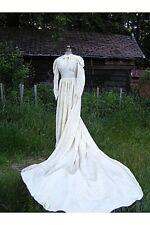 Vintage Antique 1940's Beautiful Wedding Gown flock design Unique 36-26-72
