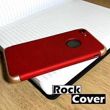 High Impact Cover Shock Resistant 3 Piece Hardened Case Red Apple  iPhone 7