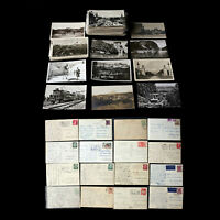 FOREIGN ALL RPPC POSTCARD 175+ LOT - POSTAL HISTORY POSTMARK CANCELS EUROPE MORE