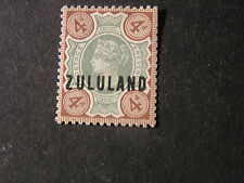 "ZULULAND, SCOTT # 6, 4p. VALUE STAMPS OF GB OVPT ""ZULULAND"" 1888-93 ISSUE MLH"