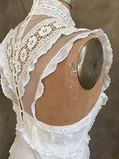 Free People Ivory Cream RACERBACK LACE UP BACK Sleeveless Sheath DRESS 8