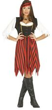 Ladies Rebel Pirate Villain Sexy Buccaneer Fancy Dress Costume Outfit 14-18