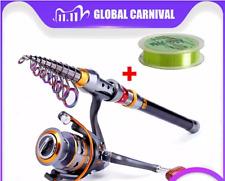 fishing rod reel Combo Full Kit Telescopic + Line