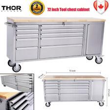 "Thor 72"" 10 Drawers Tool Chest/Storage Box/Cabinet Work Bench anti-fingerprint"