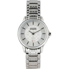 BRAND NEW COACH 14501609 CLASSIC SIGNATURE C SILVER STAINLESS STEEL WOMENS WATCH