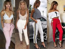 donna vita alta party Pantaloni elasticizzato aderente SIGARETTA BASIC 4