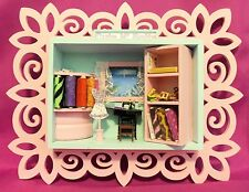 Dollhouse Miniature Sewing Room Scenario  (Roombox/Wallbox)