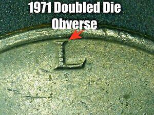 1971 Kennedy Half Dollar Doubled Die Obverse Error Coin