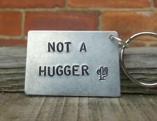 NOT A HUGGER Gifts For Her Him Girlfriend KeyRing Funny Cacti Cactus Best Friend
