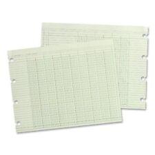 """Wilson Jones Regular Ledger Sheets - 9.25"""" X 11.88"""" Sheet Size - Green - 100 /"""